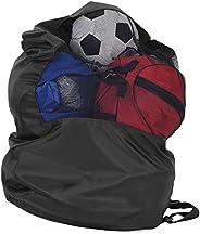 Ball Storage Bag, Delaman Portable Basketball Football Volleyball Soccer Sports Balls Mesh Drawstring Storage