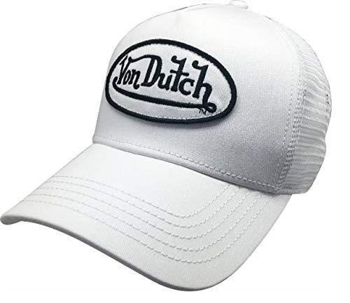 c47430b6 Von Dutch Original Women Fashion Hat Logo Design White at Amazon Women's  Clothing store: