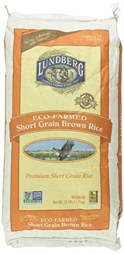 Lundberg Family Farms Eco-Farmed Short Grain Brown Rice, 25-Pound by Lundberg