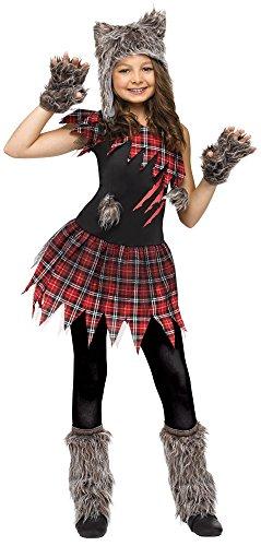 Wild Wolfie Girl Kids Costume (Werewolf Costumes)