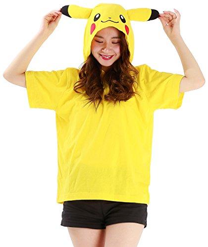 週間ロープ独特のtmy019 Tシャツ レディース メンズ 男女兼用 ポケットモンスター ピカチュウ なりきりサマーTシャツ