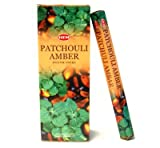 HEM Incense Patchouli Amber Hexa
