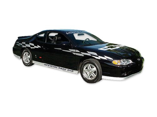 [2000 2001 2002 2003 Monte Carlo SS Super Sport Pace Car FADER Decals & Stripes Kit Also Fits 2004 2005 2006 2007 - SILVER] (Monte Carlo Decal)