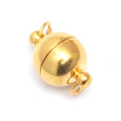 GEM-insdie Gold Plated Magnet Clasp For Necklace Bracelet Craft Charms Connector Jewelry Making (Christmas Charm Gold Plated)