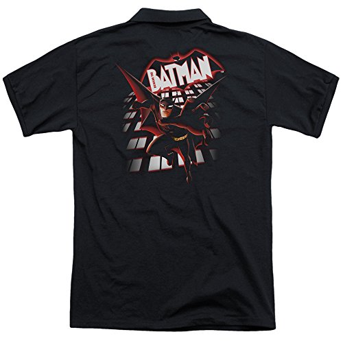 Trevco Men's Beware the Batman from the Top Back Print Polo Shirt at Gotham City Store