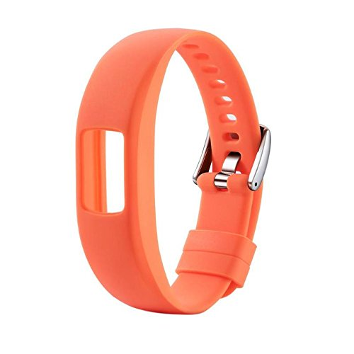 Jewh [1Pcs] Smooth Silicone Replacement Wristband - Watch Band Strap for Garmin Vivofit4 -