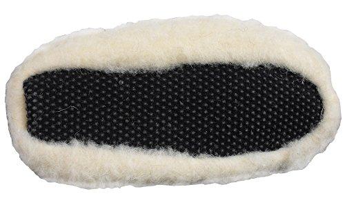 Womens Merino Wool Bootee Slipper Ladies Winter Novelty Gift Slippers Ankle Shoe Cream 67LjgyfFE7