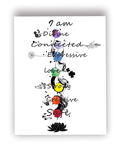 Used, Chakra Meditation Print,Flower Art,Spiritual Wall Art,Rainbow for sale  Delivered anywhere in Canada