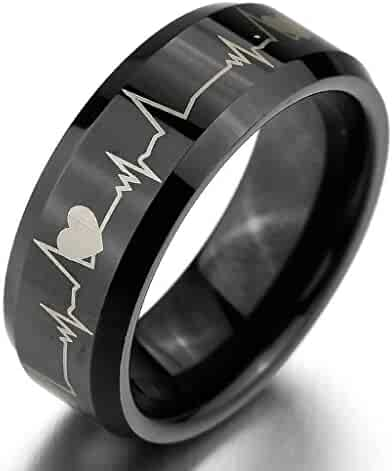 Price One Pc Gnzoe Men Wedding Rings Band Love Promise Witness Crown Rings For Couple 6MM