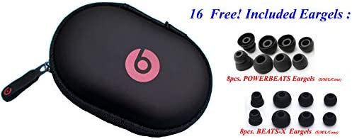 1 Hard Case for Powerbeats 3, Powerbeats 2, Powerbeats, BeatsX and All Beats Monster in-Ear Earphones Tour, Heart, iBeats, Lil Jamz, DNA, Turbine, Lady Gaga, Diddy Beats Wired or Wireless Models.