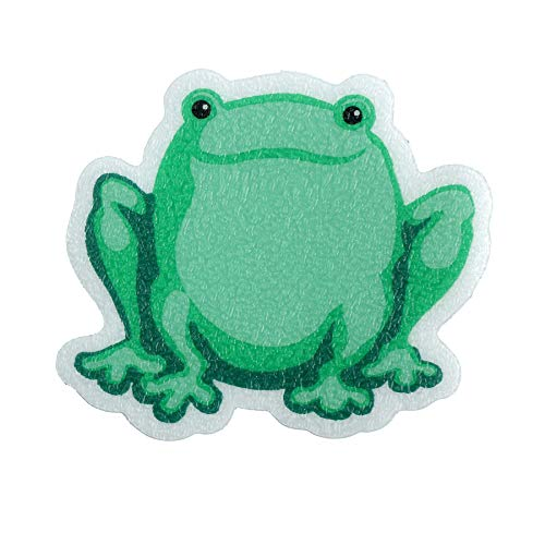 SlipX Solutions Adhesive Bath Treads: Frog Tub Tattoos Add Non-Slip Traction to Tubs, Showers & Other Slippery Spots (Kid Friendly, 5 Count, Reliable Grip)