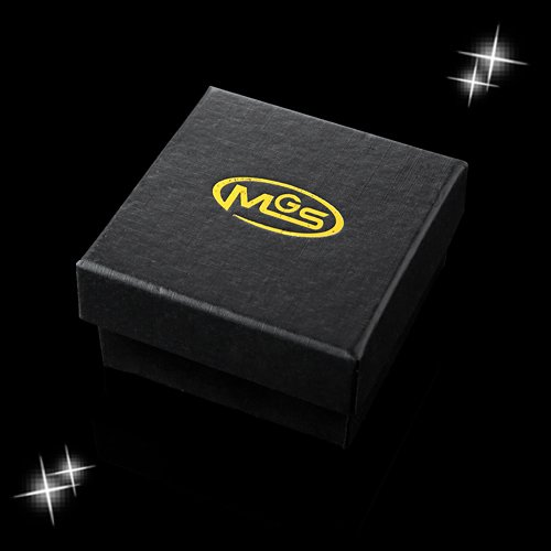 MGStyle Tie Bar Pinch Cilp For Men - 1.65 Inch For Skinny Ties - Gold Tone - Stainless Steel with Deluxe Gift Box by MGStyle (Image #2)