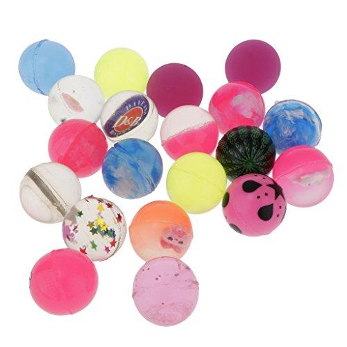 Perfeclan 全3色 ミニボール 弾み球おもちゃ ゴムボール 弾丸ボール パーティーバッグフィラー 20点パック - #4