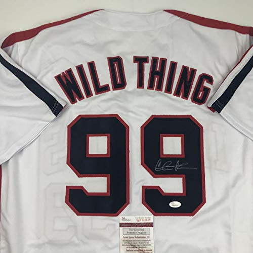 - Autographed/Signed Charlie Sheen Wild Thing Ricky Vaughn Major League Movie Baseball Jersey JSA COA