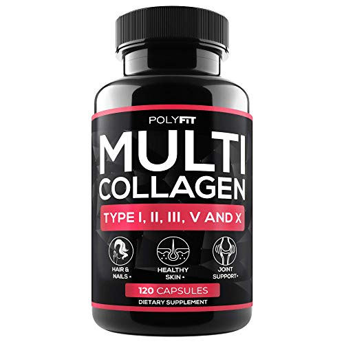 (Multi Collagen Protein Capsules - 120 Collagen Pills - Type I, II, III, V, X Hydrolyzed Collagen Peptides for Women & Men )