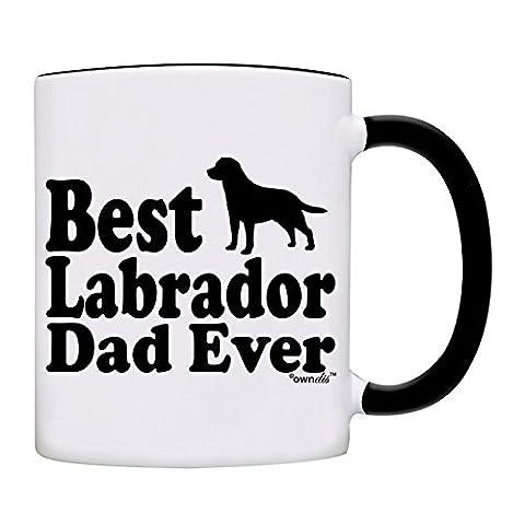 owndis Best Labrador Dad Ever Gift Coffee Mug-0050-Black - Labrador Coffee