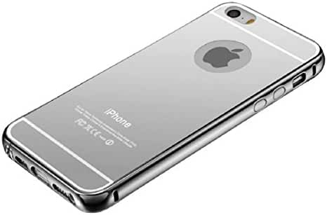 For iPhone 5/5S, Mchoice Luxury Aluminum Ultra-thin Mirror Metal Case Cover Skin for iPhone 5/5S