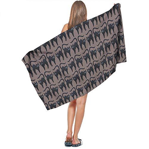 VR4U FUUNY Cute Cats Lover Halloween Black Surf Towel Large for Spa Pool Towel]()
