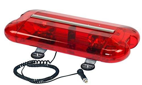 Wolo (3560M-R) Aurora Halogen Emergency Warning Mini Light Bar - Red Lens