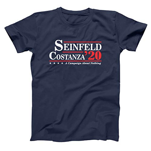 Donkey Tees Seinfeld and Costanza for President 2020 Funny Election Mens Shirt XXX-Large Navy