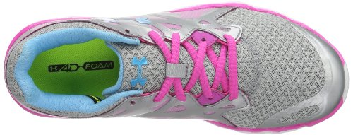 Under Armour Women's UA W Micro G Monza NM-MSV/PKA/PIB Running Shoes Silver - Silber (Met Silver/Pinkadelic/Pirate 099) 2AhdaNH5