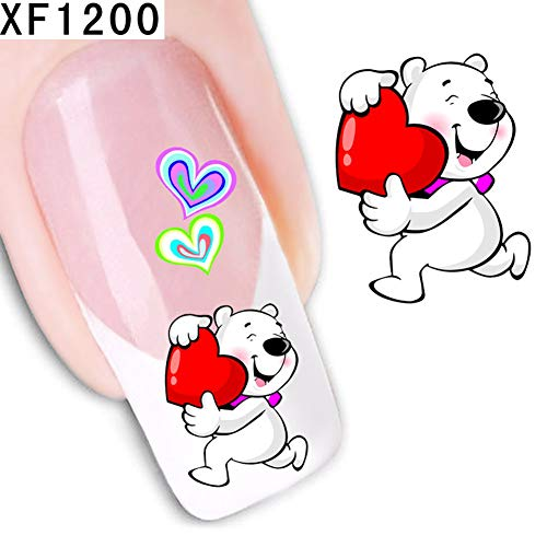 (Nail Art Stickers By gLoaSublim,Fashion Women Floral Flower Pattern Nail Art Sticker DIY Decal Manicure Tools -)