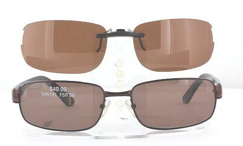 KIRKLAND-SIGNATURE MERITAGE-545181-58X18 POLARIZED CLIP-ON SUNGLASSES (Frame NOT - Polarized Kirkland Sunglasses