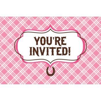 Heart My Horse Invitation Gatefold (8) Invites Birthday (Horse Birthday Party Invitations)