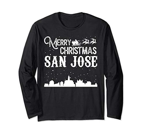 Merry Christmas Y'all San Jose City Long Sleeve shirt -