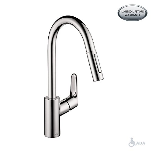 hansgrohe chrome kitchen faucet - 8