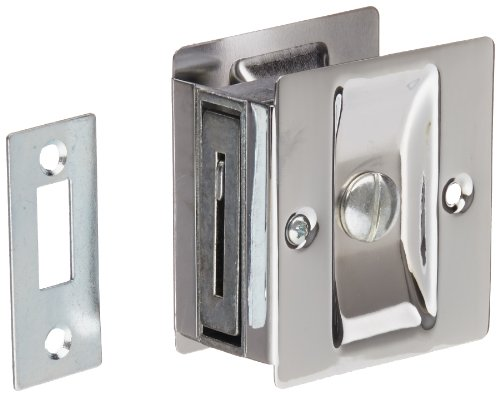 Rockwood 891.26 Brass Pocket Door Privacy Latch, 2-1/2