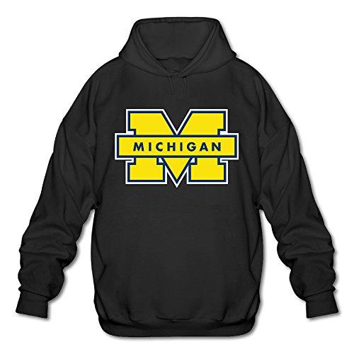 Michigan Wolverines M Logo Sweatshirts For Men Size S Black