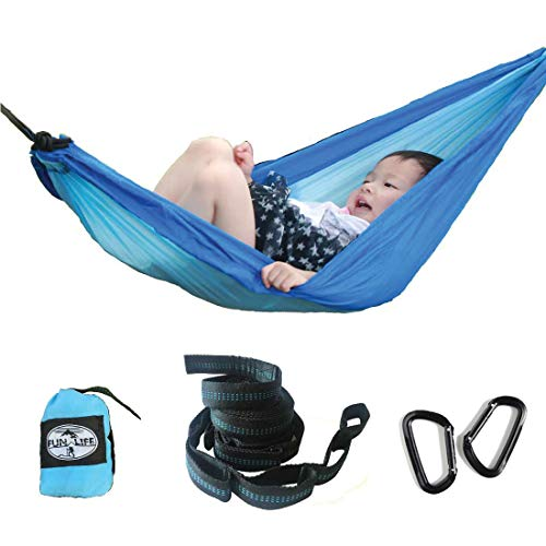 funlife Teenage Nest Hammock for Indoor and Outdoor Use Lightweight Parachute Silk Portable Hammock