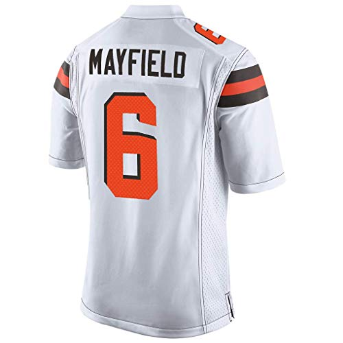 Men's/Women's/Youth_Cleveland_#6_Baker_Mayfield_White_Game_Jersey