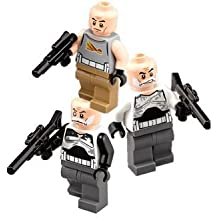 3 Set of Lego Star Wars minifigs mini figure Captain Rex Commander Wolf Gregor