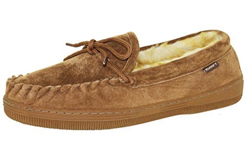 Ldies Suede Classic Moccasin Slippers, CHESTNUT, SIZE 9US (Suede Classic Slippers)