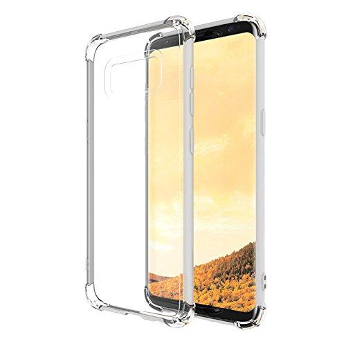 """Coque Samsung Galaxy S8+ / S8 Plus (6.2""""), MSVII® Air-Cushion Design TPU Souple Transparent Coque Etui Housse Case et Protecteur écran Pour Samsung Galaxy S8+ / S8 Plus (6.2"""") JY70026"""