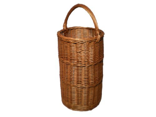 Round Wicker Umbrella Basket - Buff Willow by Somerset Levels (Somerset Baskets Willow)