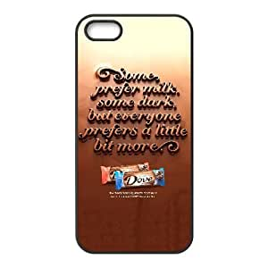 Protection Cover Watdu iPhone 5, 5S Cell Phone Case Black Dove Chocolate Personalized Durable Cases
