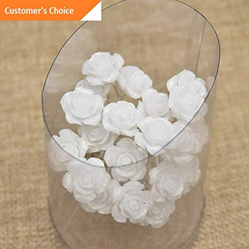 (Werrox 20/40Pcs Wedding Bridal Pearl Rose Flower Hair Pins Rhinestone Crystal Clips Hot | Model HRPN - 3835)
