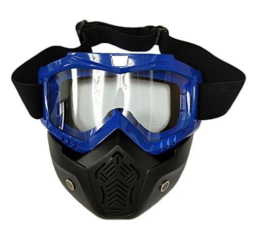 OSdream Tactical Airsoft Masks, Tactical Mask Soft Bullet Dart Protective Mirror Face Mask (Blue Mirror ()