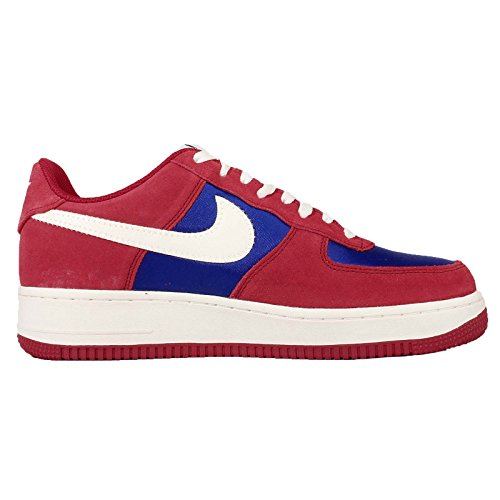 Nike Mens Air Force 1, GYM RED/SAIL-DEEP ROYAL BLUE, 11.5 M US