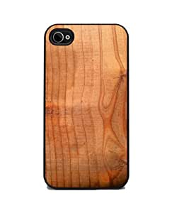 Wood Grain - iPhone 4 or 4s Cover, Cell Phone Case - Black