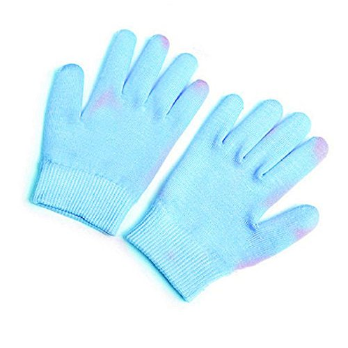 Hands Moisturizing (Gel Spa Gloves Pinkiou Soften Skin Moisturizing Treatment Hand Mask Care Gloves best gift for her (gloves, blue))