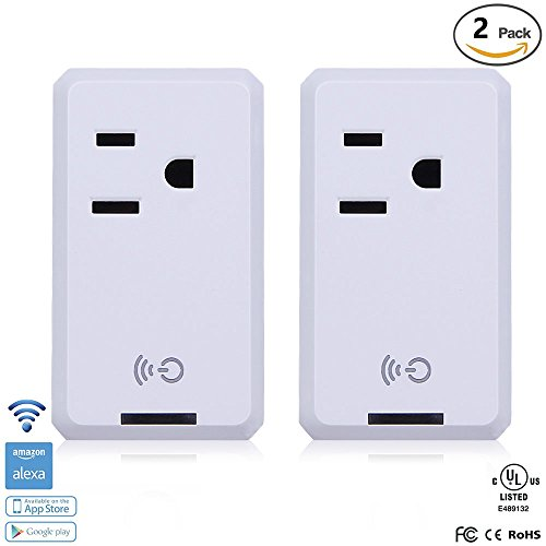Smart WiFi Outlet Socket, BOSCHENG Wireless Outlet Switches Remote Control WiFi Timing Socket for Household Appliances, Works with Amazon Echo Alexa & Google Assistant (2 PCS) by BOSCHENG (Image #1)