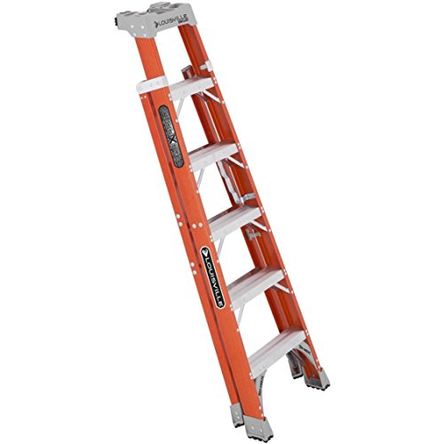 Fiberglass Heavy Duty Slip Resistant Rubber Tread Ladder by Louisville Ladder (Image #2)