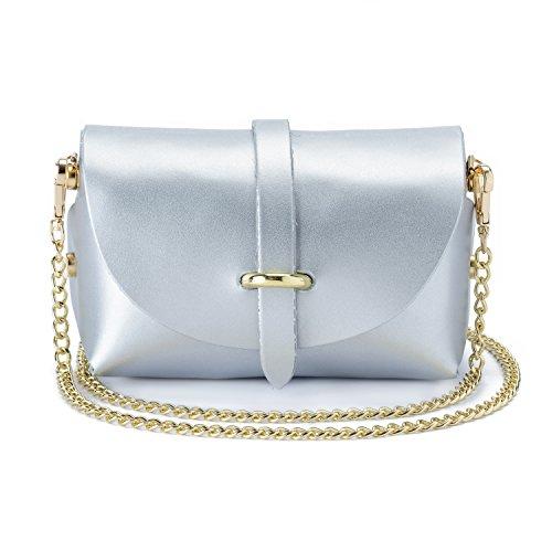 Pochette Blanc Argent femme PRB1000 PRB1812 Parubi Noir pour Noir Bianco 5Tf60qwxZ