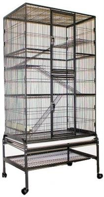 """Exotic Nutrition Congo Cage - 68"""" Tall Cage for Sugar Gliders, Squirrels, Marmosets"""