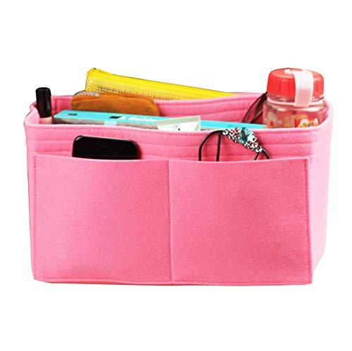 (JennyKrafts Purse Insert (3mm Felt, Open Pockets, Water Bottle Holder), Tote Bag Organizer Pockets)