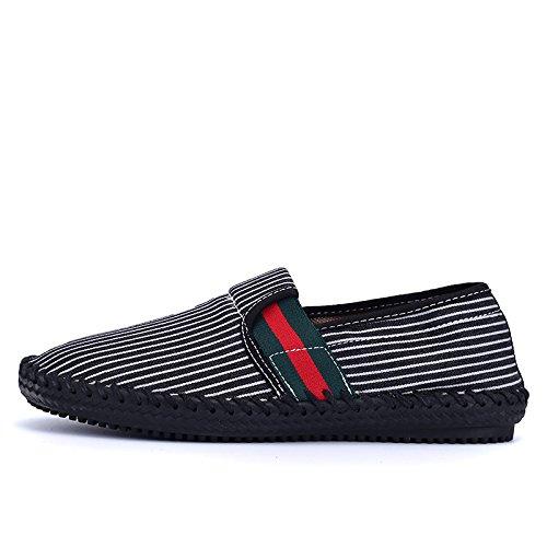 Männer - mode, lässig leinwand schuhe männer ist handgemacht leinwand schuhe, niedrig - schuhe und atmungsaktive schuhe,schwarz,43